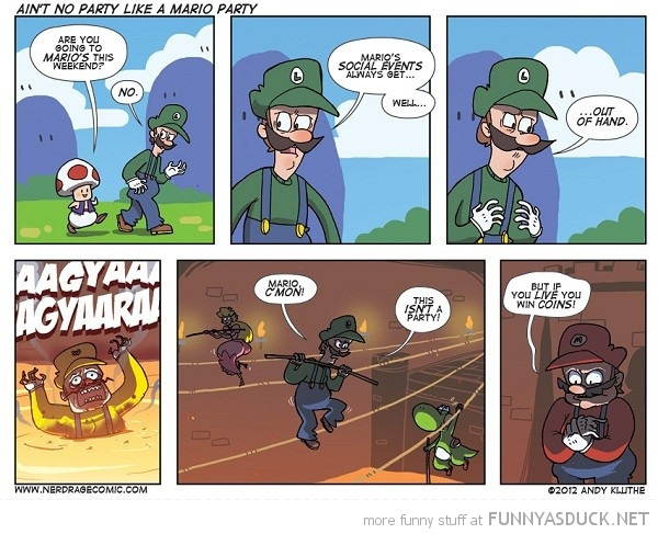 mario luigi toad gaming nintendo party comic funny pics pictures pic picture image photo images photos lol