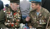 war army old man senior citizen veteran talking young soldier listen here noob funny pics pictures pic picture image photo images photos lol