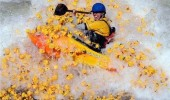 white water rafter rafting boat suddenly rubber ducks attacked toys bath funny pics pictures pic picture image photo images photos lol