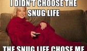 woman couch cosy blanket didn't choose snug life choose me funny pics pictures pic picture image photo images photos lol