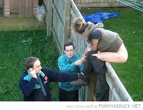 wtf woman shit crap dump over garden yard fence funny pics pictures pic picture image photo images photos lol