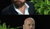 zach galifianakis bruce willis tv scene what you talking about funny pics pictures pic picture image photo images photos lol