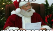 angry santa xmas christmas iphone 5 present ho hold the fuck up funny pics pictures pic picture image photo images photos lol
