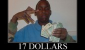 boy holding money 17 dollars that's gangsta funny pics pictures pic picture image photo images photos lol