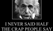 albert einstien quote never said half crap people say did funny pics pictures pic picture image photo images photos lol