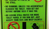 bathroom rules toilet gym sign funny pics pictures pic picture image photo images photos lol