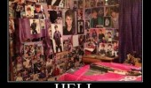 girls bedroom justin beiber posters hell funny pics pictures pic picture image photo images photos lol