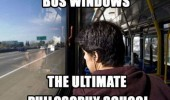 boy looking out bus windows ultimate philosophy school funny pics pictures pic picture image photo images photos lol