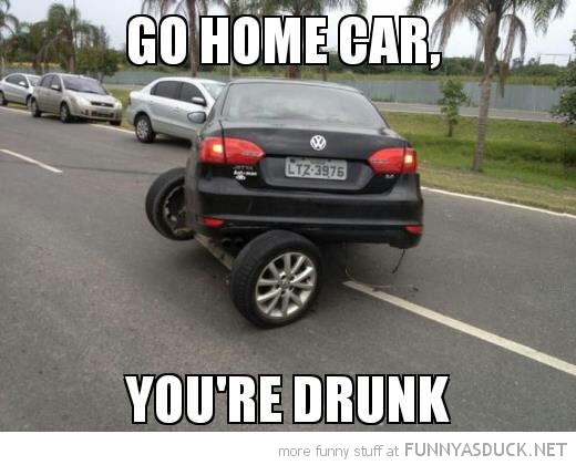 broken wheels axle go home car drunk funny pics pictures pic picture image photo images photos lol