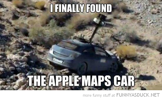 car ditch crash found apple maps funny pics pictures pic picture image photo images photos lol