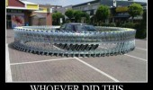 car parking lot surrounded trolleys shopping carts my hero funny pics pictures pic picture image photo images photos lol