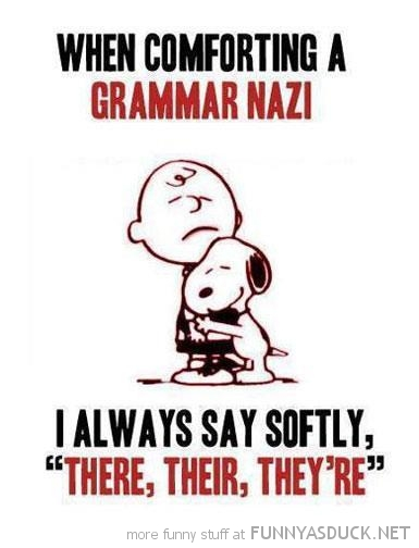 comforting grammar nazi charlie brown snoopy there funny pics pictures pic picture image photo images photos lol