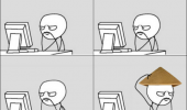 coputer guy rage comic meme chinese hat mustache funny pics pictures pic picture image photo images photos lol