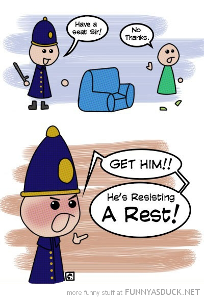 cop policeman resisting a rest comic funny pics pictures pic picture image photo images photos lol