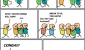 cyanide happiness comic kill him conga funny pics pictures pic picture image photo images photos lol