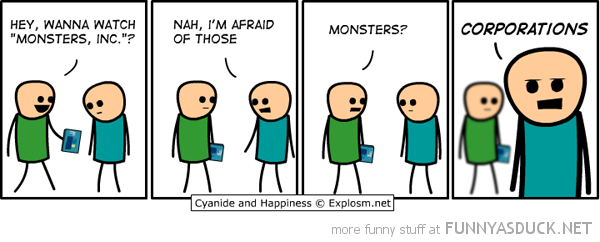 cyanide happiness comic monsters inc corporations funny pics pictures pic picture image photo images photos lol