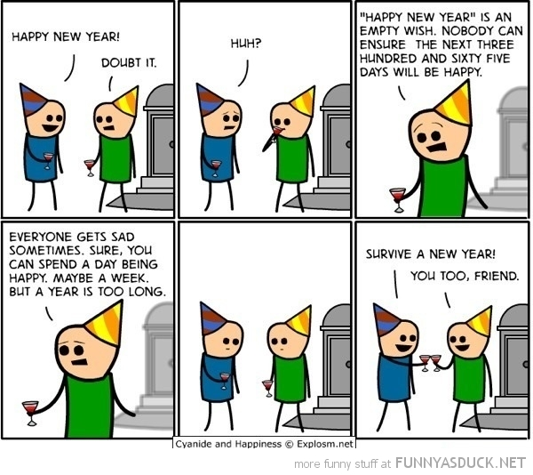 cyanide happiness comic survive a new year funny pics pictures pic picture image photo images photos lol