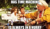 doc back to future movie film has time machine always in hurry funny pics pictures pic picture image photo images photos lol