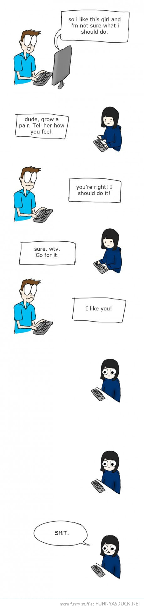 boy girl chatting computer comic grow pair tell her shit funny pics pictures pic picture image photo images photos lol