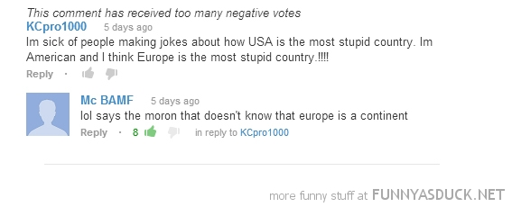 dumb american you tube comment europe funny pics pictures pic picture image photo images photos lol