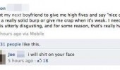 facebook status comment shit on you someone disgusting funny pics pictures pic picture image photo images photos lol
