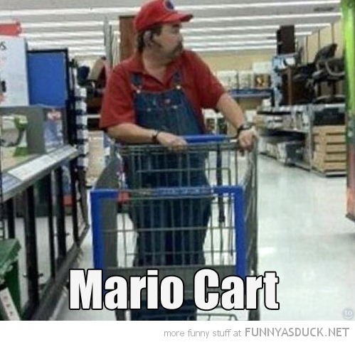 fat man store shop nintendo mario cart shopping gaming funny pics pictures pic picture image photo images photos lol