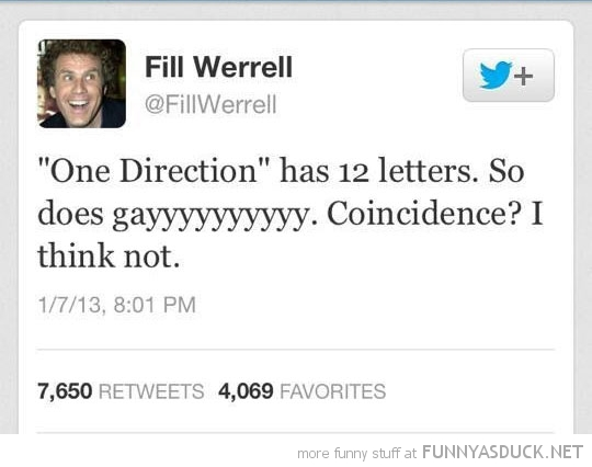 fill werrell twitter tweet one direction 12 letters gay coincidence funny pics pictures pic picture image photo images photos lol