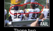 fottball nfl players dingle berry fail should not sit together  funny pics pictures pic picture image photo images photos lol