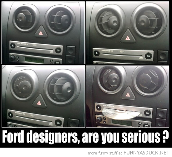 ford car designers face stereo cd player serious funny pics pictures pic picture image photo images photos lol