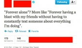 forever alone twitter tweet having blast friends funny pics pictures pic picture image photo images photos lol