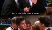 friends tv scene chandler joeys apple funny pics pictures pic picture image photo images photos lol
