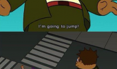 futurama tv scene hermes jump suicide do flip bender funny pics pictures pic picture image photo images photos lol