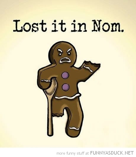 gingerbread man crutch comic lost it in nom funny pics pictures pic picture image photo images photos lol
