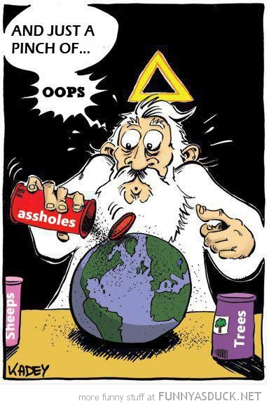 god creating making earth just pinch assholes oops comic funny pics pictures pic picture image photo images photos lol