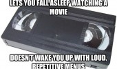 good guy vhs video tape fall asleep wake up menus funny pics pictures pic picture image photo images photos lol
