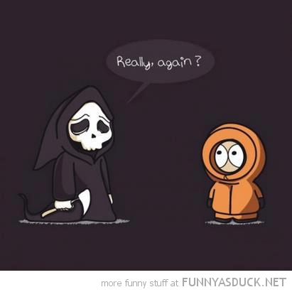 grim reaper death kenny south park really again tv funny pics pictures pic picture image photo images photos lol