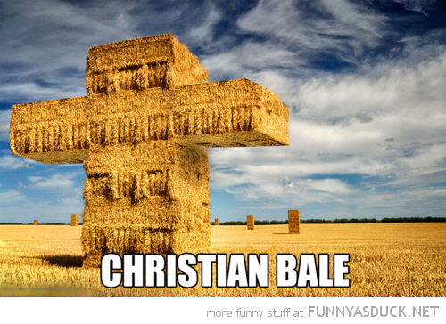 hay field christian bale cross batman funny pics pictures pic picture image photo images photos lol