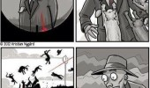 hit man comic red dot laser animal funny pics pictures pic picture image photo images photos lol
