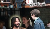 keanu reeves jesus water wine film actor funny pics pictures pic picture image photo images photos lol