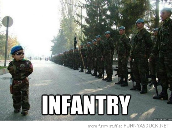 kid boy army officer soldiers parade infantry funny pics pictures pic picture image photo images photos lol