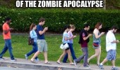 kids on phones whats point worry zombie apocalypse funny pics pictures pic picture image photo images photos lol