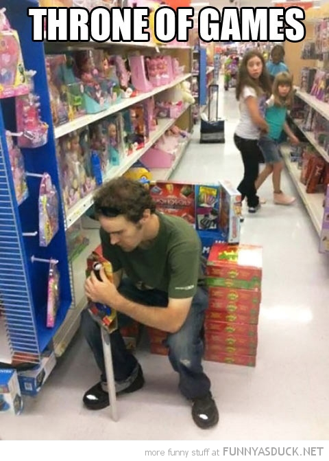 man sitting store shop throne of games tv funny pics pictures pic picture image photo images photos lol