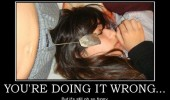 man tea bagging girl woman doing it wrong still funny funny pics pictures pic picture image photo images photos lol