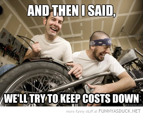 scumbag mechanics laughing then said keep costs down funny pics pictures pic picture image photo images photos lol