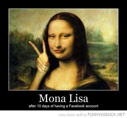 mona lisa facebook duck face funny pics pictures pic picture image photo images photos lol
