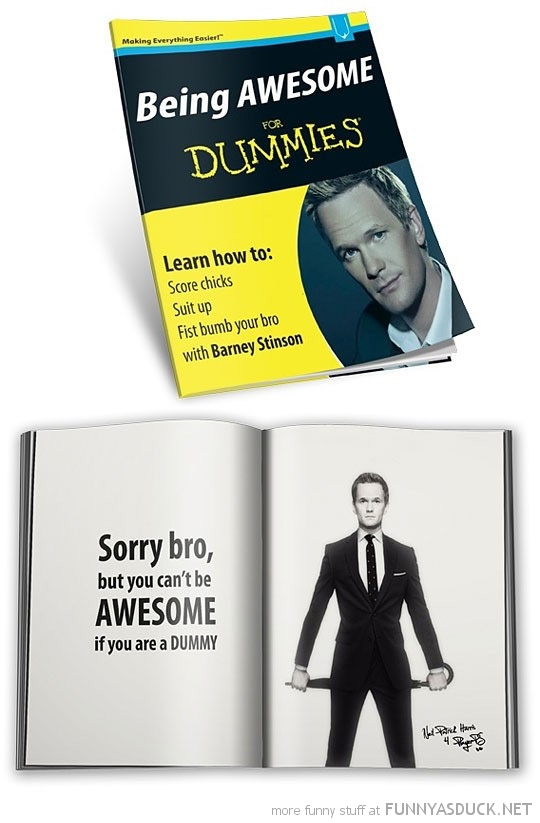 neil patrick harris barney stinson how met mother awesome for dummies book funny pics pictures pic picture image photo images photos lol
