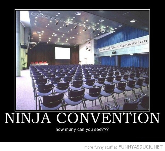 ninja convention can you see funny pics pictures pic picture image photo images photos lol