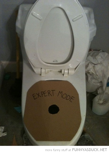 toilet peeing pissing hole cardboard expert mode funny pics pictures pic picture image photo images photos lol