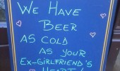 pub bar sign beer cold ex girlfriends heart funny pics pictures pic picture image photo images photos lol