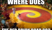 red yellow brick road wizard of oz Dorothy movie where does go funny pics pictures pic picture image photo images photos lol